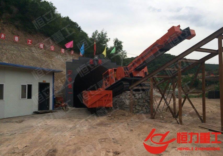 陕煤集团曲轨式6立方矿车与履带式大坡度斜